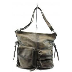 Дамска чанта от естествена кожа ИО 3 св.кафяв