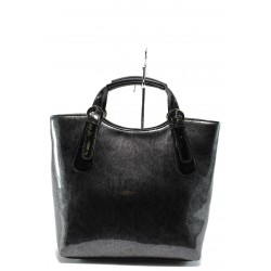 Българска дамска чанта СБ 1146 черен лак