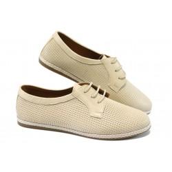 Анатомични дамски обувки от естествена кожа МИ 104-01 бежов