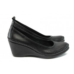 Дамски ортопедични обувки на платформа МИ 150-5927 черен