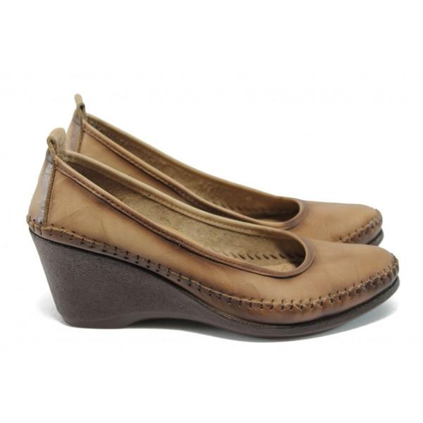 Дамски ортопедични обувки на платформа МИ 150-5927 визон