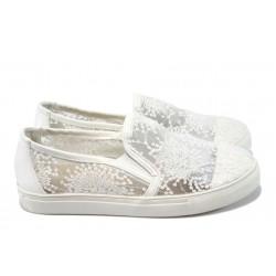 Дамски дантелени обувки РС 8147-1104 бели