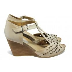 Дамски ортопедични сандали от естествена кожа ИО 1484 бежов