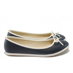 Дамски равни обувки /тип еспадрили/ ПИ 13 син