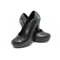 Анатомични дамски обувки от естествена кожа НЛ 165-7903 черен