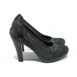 Анатомични дамски обувки на висок ток НЛ 199-7976 черен