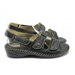 Дамски ортопедични сандали от естествена кожа ГР 300382 черен