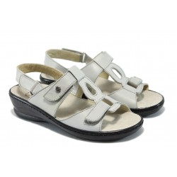 Дамски ортопедични сандали от естествена кожа ГР 103005 сив