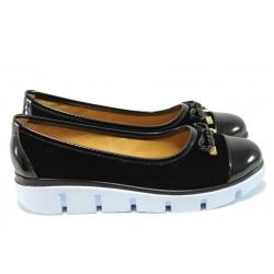 Равни дамски обувки с модерно ходило МИ 425 черен
