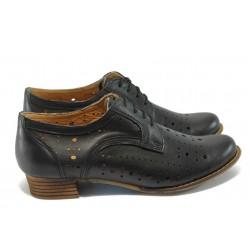 Дамски ортопедични обувки от естествена кожа НБ 01-906 черен