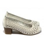 Анатомични дамски обувки от естествена кожа НБ 1504-916 айс