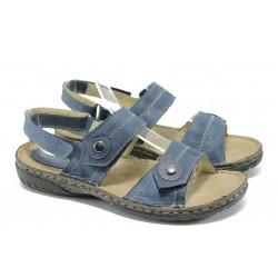Български анатомични сандали от естествена кожа ГР 307002 син