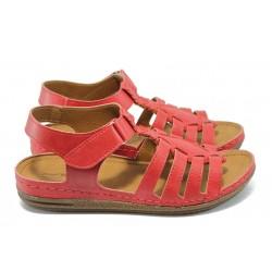 Анатомични дамски сандали Jump 10728 червен