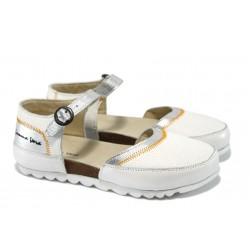 Дамски ортопедични обувки от естествена кожа МЙ 23097 бели
