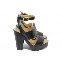 Дамски елегантни сандали на висок ток МИ 1755 черен