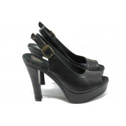 Анатомични дамски сандали от естествена кожа НЛ 204-7903 черен