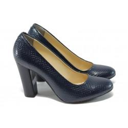 Дамски елегантни обувки на висок ток МИ 78 синя змия