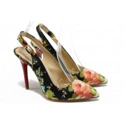 Елегантни дамски обувки на висок ток МИ 2020 черен
