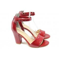 Дамски сандали на висок ток МИ 143 червени