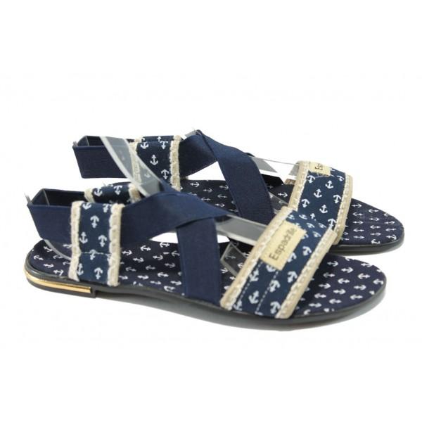 Дамски равни сандали МИ 24 син