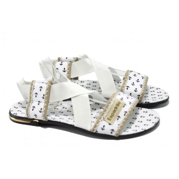Дамски равни сандали МИ 24 бял