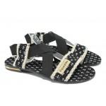 Дамски равни сандали МИ 24 черен