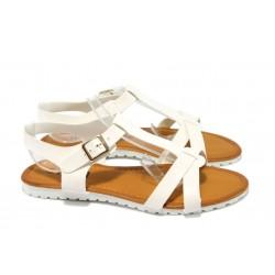 Дамски равни сандали Runners 9773 бял