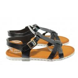 Дамски равни сандали Runners 9773 черен