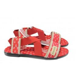 Дамски равни сандали МИ 24 червен