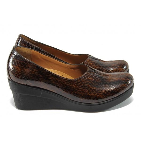 Дамски ортопедични обувки на платформа МИ 721-314 кафяв