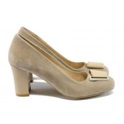 Елегантни дамски обувки на висок ток МИ 201 визон