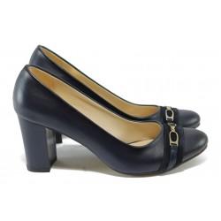 Елегантни дамски обувки на висок ток МИ 812 син