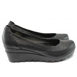 Анатомични дамски обувки от естествена кожа НЛ 169-15431 черен