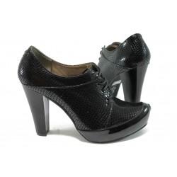 Дамски елегантни обувки МИ 290 черна змия