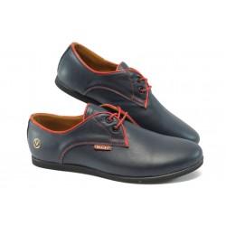 Дамски обувки от естествена кожа МИ 034 син