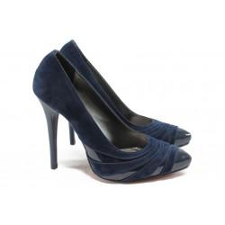 Дамски обувки на висок ток МИ 184 син