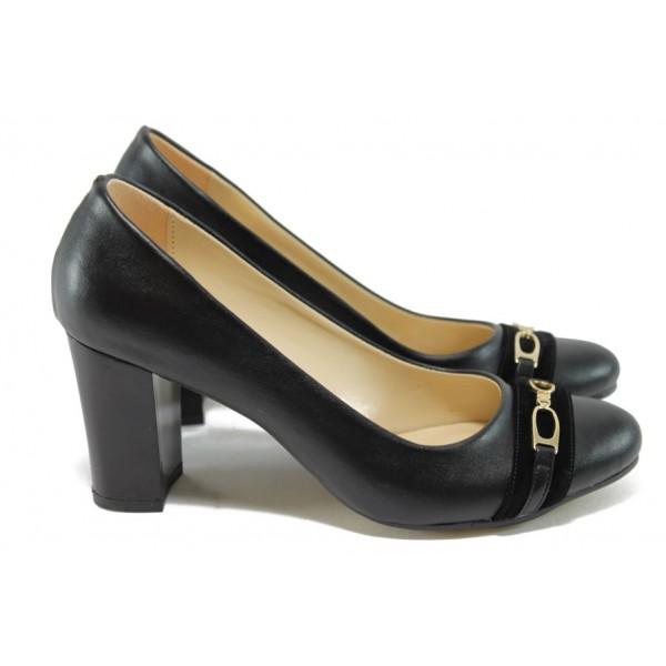 Елегантни дамски обувки на висок ток МИ 812 черен
