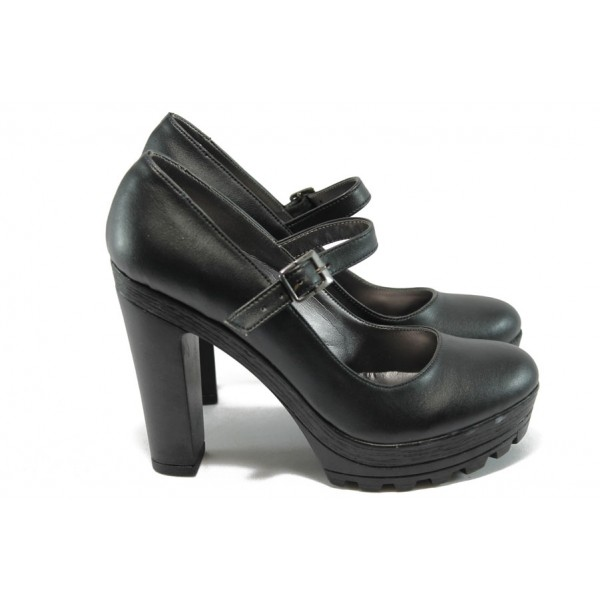 Елегантни дамски обувки на висок ток МИ 2 черен