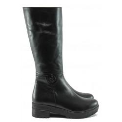 Дамски ботуши от естествена кожа МИ 603 черен