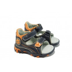 Анатомични бебешки сандали с лепенки КА 535 т.син 20/25