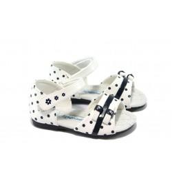 Анатомични бебешки сандали със затворена пета КА 306 бели 20/25