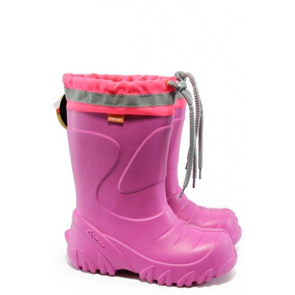 Детски гумени ботуши с естествена вълна Demar 0300 розов 24/35 | Гумени ботуши |MES.BG