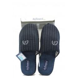 Мъжки ароматизирани домашни чехли ДФ TATTICO2 синьо райе