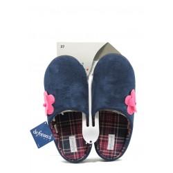 Дамски ароматизирани домашни чехли с мемори пяна ДФ MAZEDI67 т.син