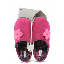 Дамски ароматизирани домашни чехли с мемори пяна ДФ MAZEDI67 розов