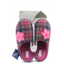 Дамски ароматизирани домашни чехли с мемори пяна ДФ MAZEDI67 каре