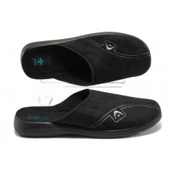 Мъжки анатомични домашни чехли МА 18482 черен