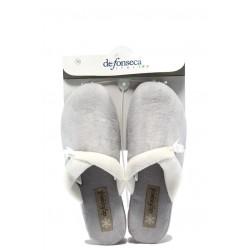 Дамски домашни чехли с платформа ДФ VIOLEDI70 сив