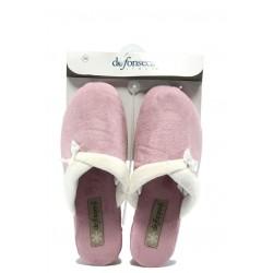 Дамски домашни чехли с платформа ДФ VIOLEDI70 розов