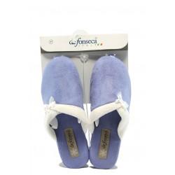 Дамски домашни чехли с платформа ДФ VIOLEDI70 син
